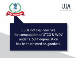 rules for computation of STCG & WDV under s.50