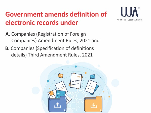 Amendment in the defination of Electronic records